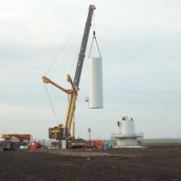 Hijswerk bij aanleg windmolenpark Zuidlob Zeewolde-1