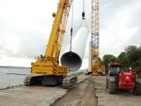 Demontage 5 turbines Zuidwal Maasvlakte
